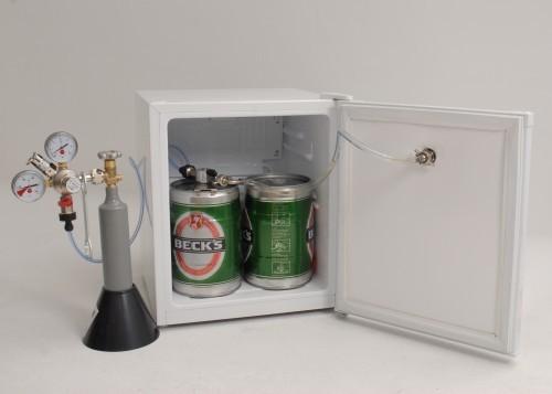Faßbierkühlschrank A+ für 2x 5 Liter Dosen  mit  ~ Spülbecken Liter