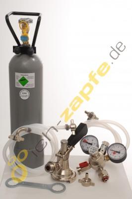 Zubehörpaket 2 mit Korb-Fitting, 10mm! Bierschlauch, 2,0 kg CO2 für 1-leitige Zapfanlagen
