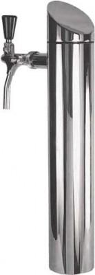 Schanksäule / Zapfsäule Modell Tower, matt gebürstet, 2-leitig