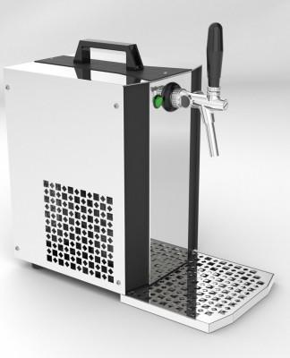 Zapfanlage - Bierkoffer, Durchlaufkühler, MK24 - mit Membranpumpe