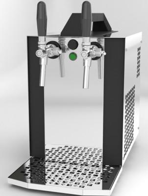 Bierkoffer, Zapfanlage, Durchlaufkühler, AK40 - mit Membranpumpe